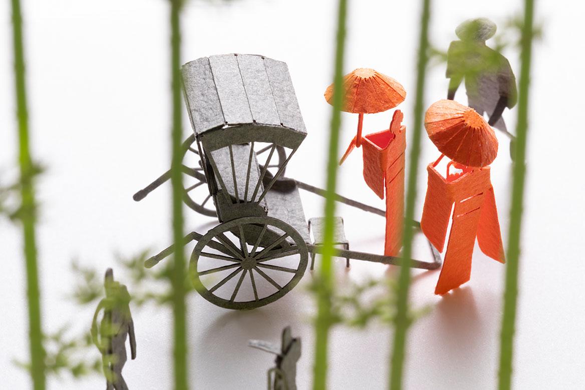 1/100建築模型用添景セット スペシャルエディション「京都編・夏」