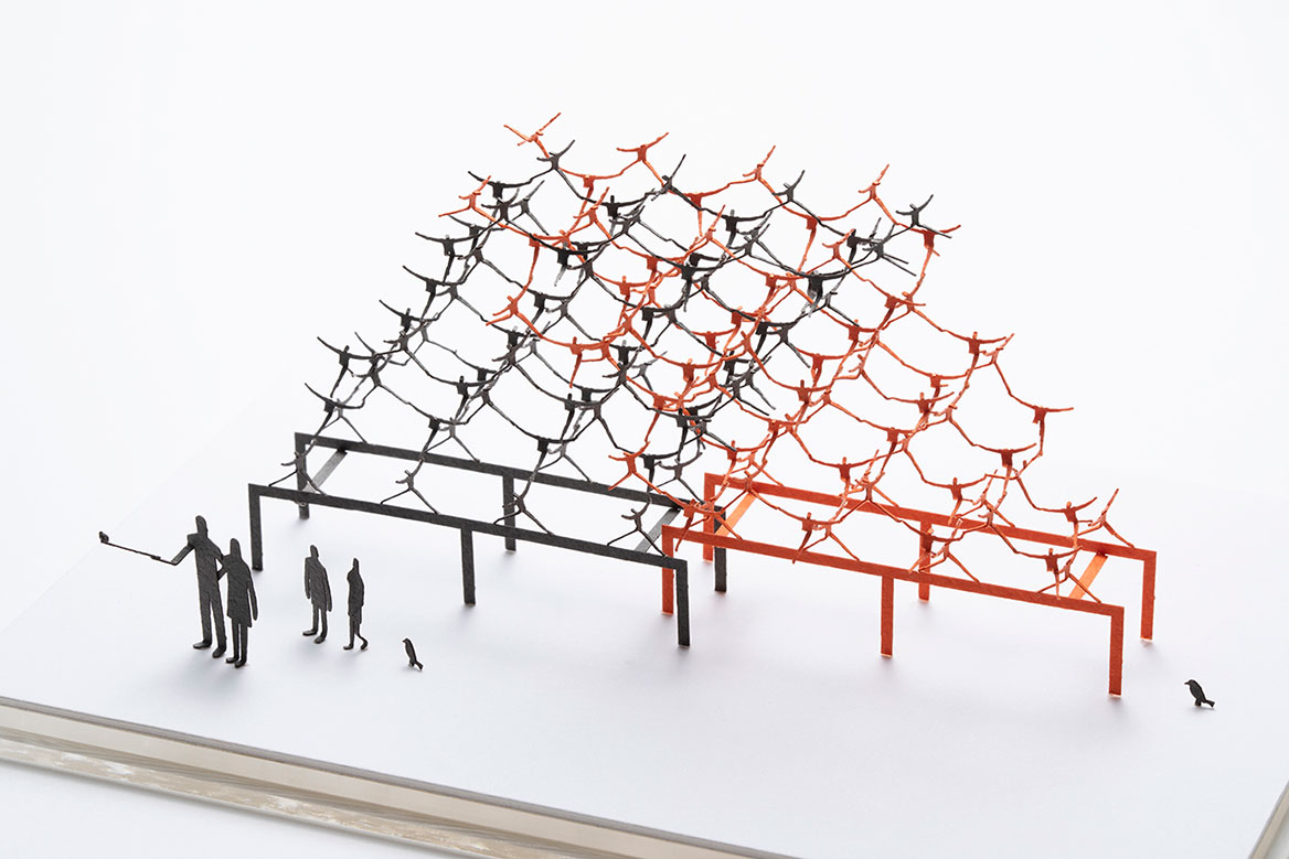 1/100建築模型用添景セット スペシャルエディション 彫刻の森美術館編