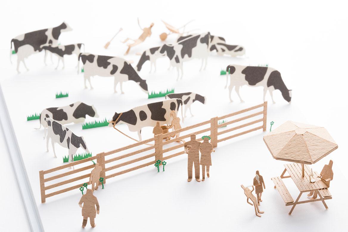 1/100建築模型用添景セット スペシャルエディション 北海道くらし百貨店「北海道の風景 牛がいっぱい編」
