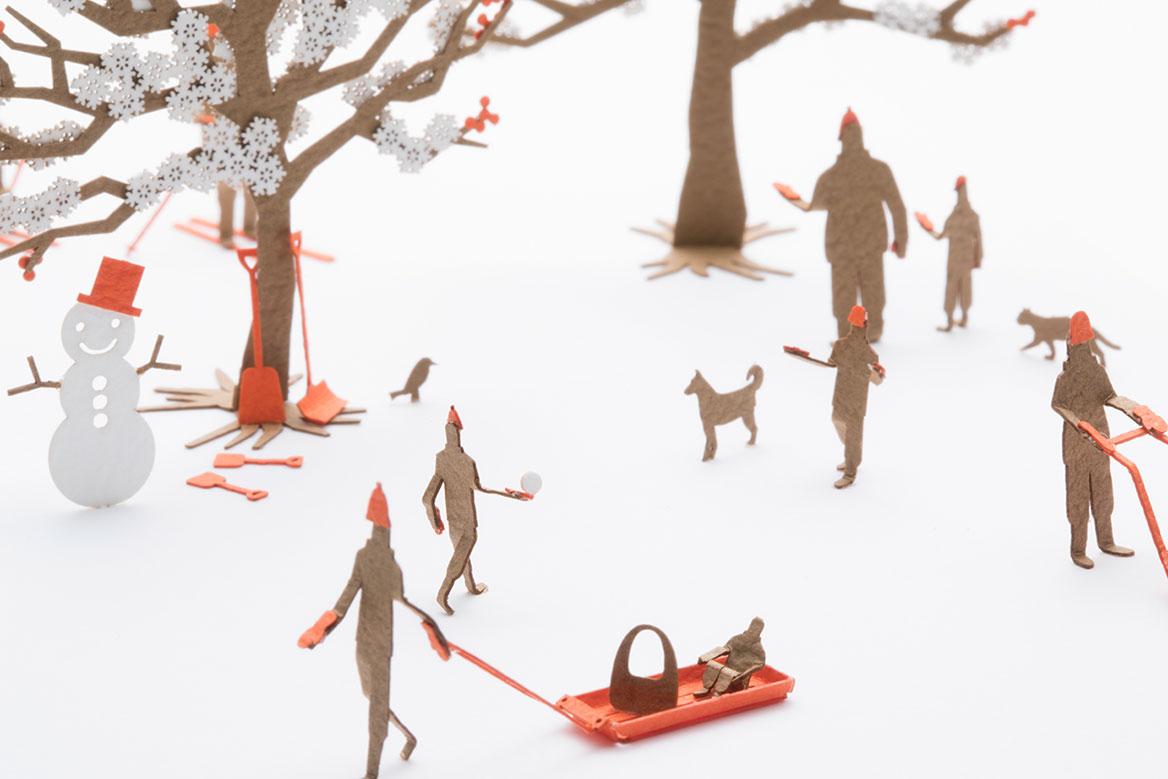 1/100建築模型用添景セット スペシャルエディション 北海道くらし百貨店「北海道の風景 わーい!雪だ編」