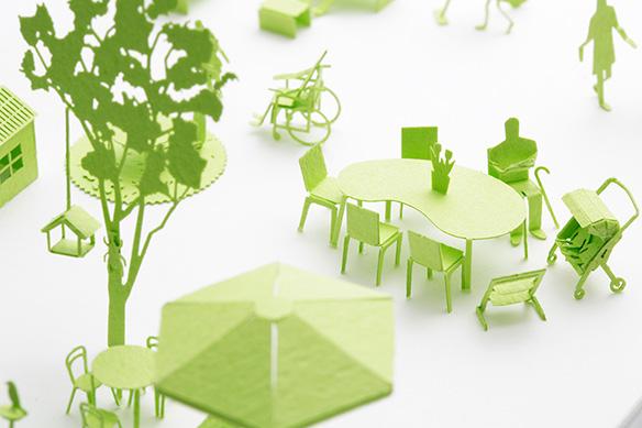 1/100建築模型用添景セット スペシャルエディション 積水ハウス「みんなの住まい編」