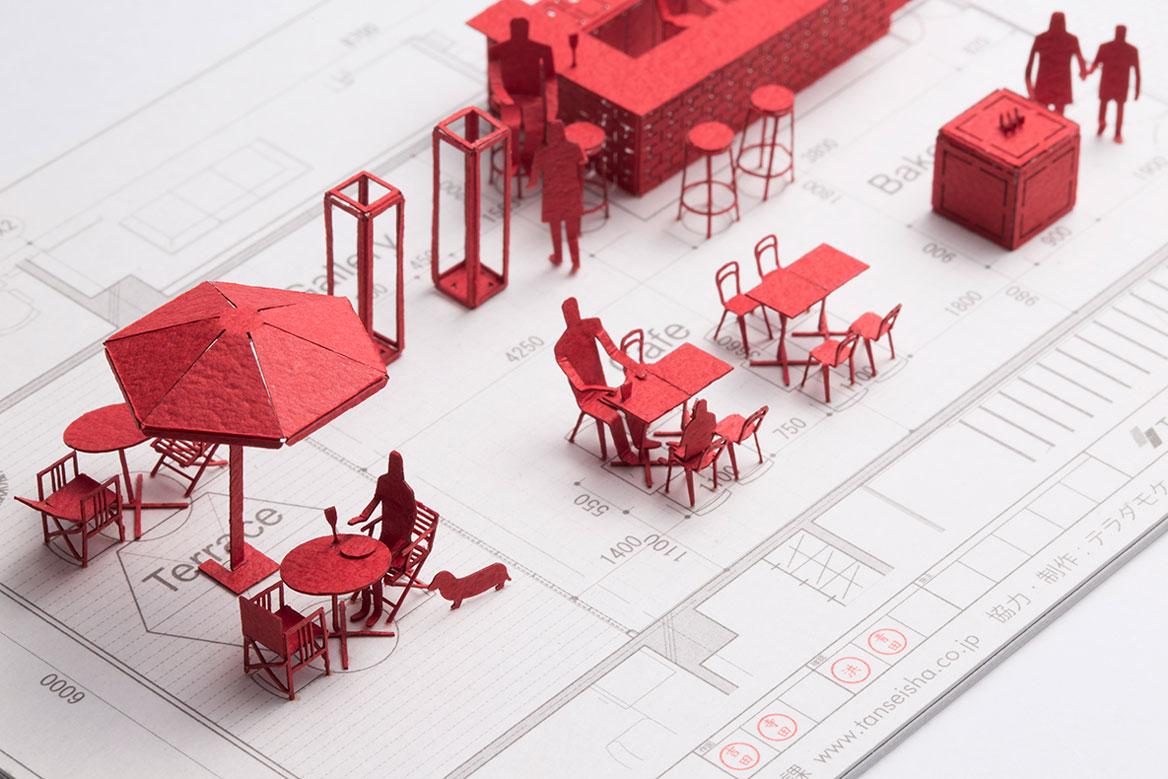 1/100建築模型用添景セット スペシャルエディション 丹青社「<空間づくり>の魅力を伝えたい編」