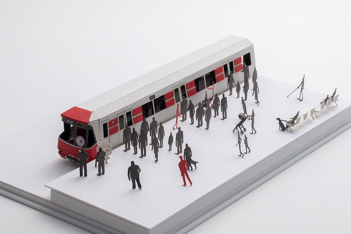 1/100建築模型用添景セット スペシャルエディション 都営大江戸線 12-600形3次車