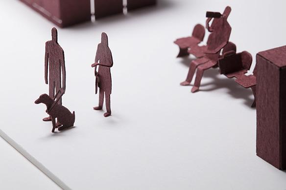 1/100建築模型用添景セット スペシャルエディション 東京駅 Suicaで買えます編