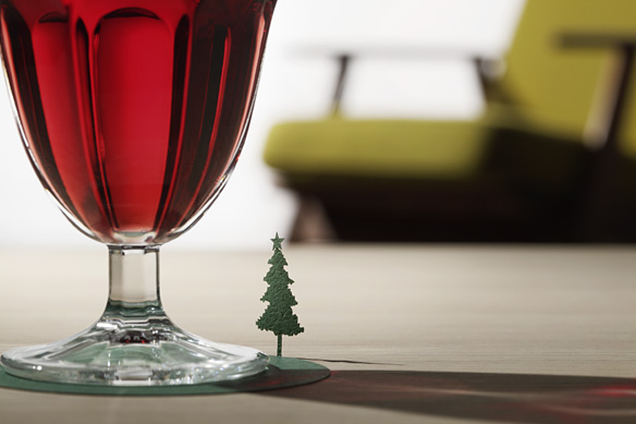 1/100 ARCHITECTURAL MODEL COASTERS No. 4 Christmas