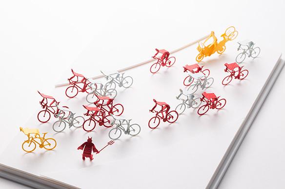 1/100建築模型用添景セット No.63 サイクルロードレース編